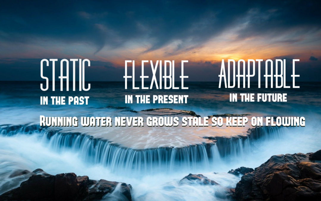 Be Flexible Be Adaptable Be like water.